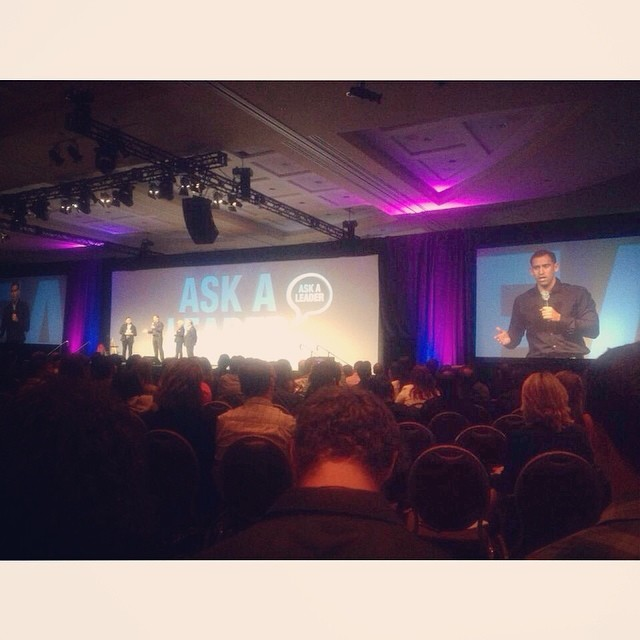 Speaking to close to 1,000 motivated entrepreneurs on how I applied what I learned  to help double my income